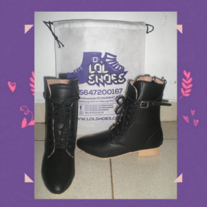 Heels Boots Satu Gesper dan Tali